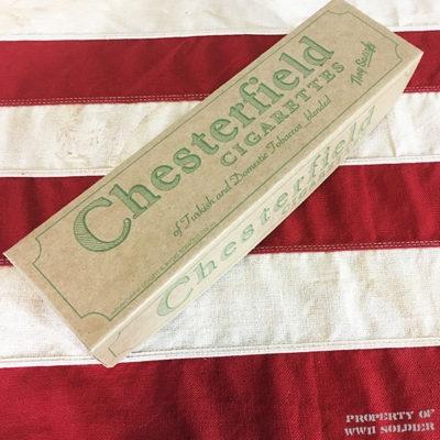 WWI Chesterfield Cigarette Carton Box Reproduction, WW2