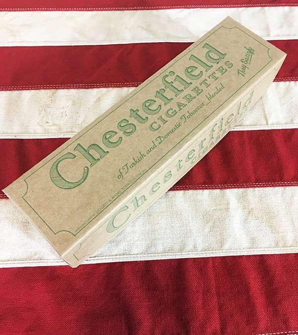 WWI Chesterfield Cigarette Carton Reproduction