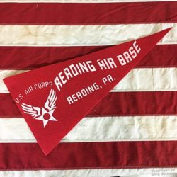 WWII US Air Corps Reading Pennant, WW2