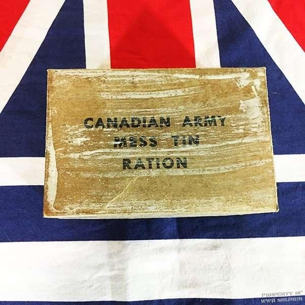 WWII Canadian Army Mess Tin Ration Box, WW2