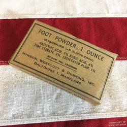 WWII Foot Powder Box, WW2