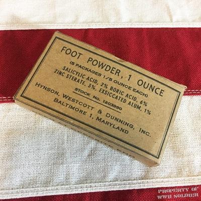 WWII Foot Powder Box, WW2