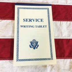 WWII Service Writing Tablet