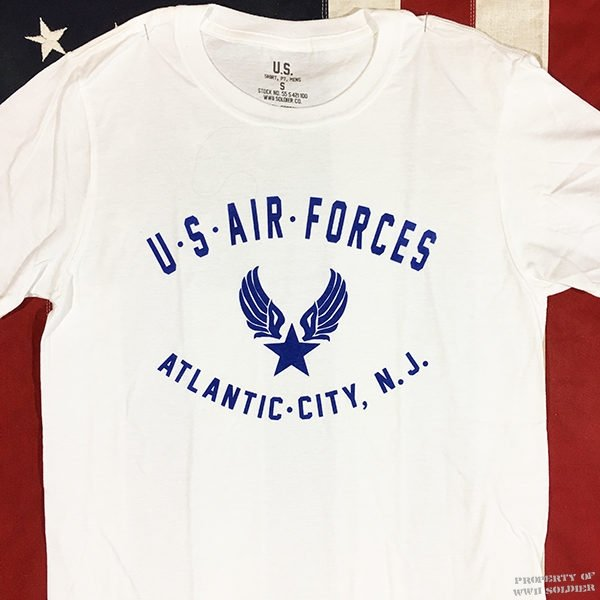 WWII Atlantic City T Shirt, AAF U. S. Air Forces New Jersey