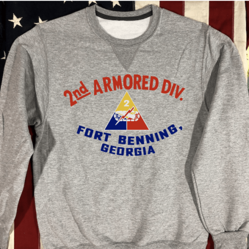 WWII 2nd Armored Division Sweatshirt in Gray WW2