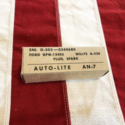 WWII Spark Plug Box Auto Lite WW@