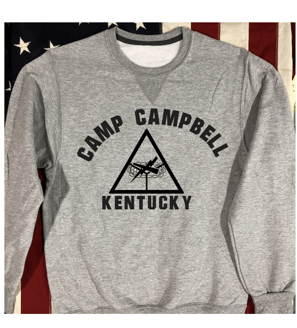 Camp Campbell Sweatshirt with V notch, Armored Force