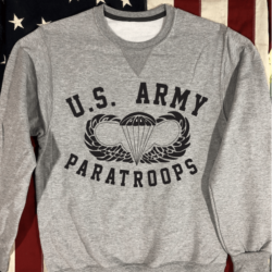 WWII US Army Paratroops Sweatshirt V notch WW2