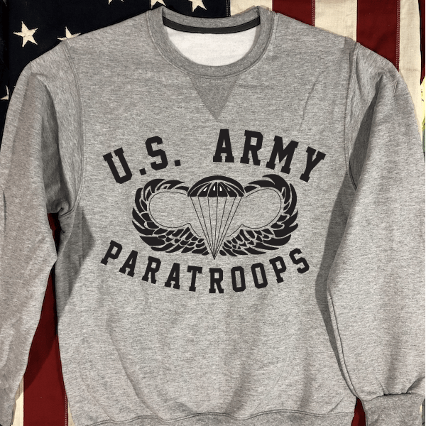 US Army Paratroops Sweatshirt with V notch, WWII