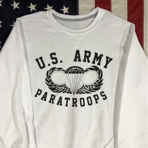 WWII US Army Paratroops Sweatshirt White WW@