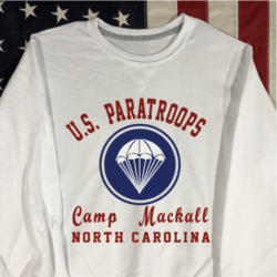 WWII Camp Mackall Sweatshirt V notch WW2