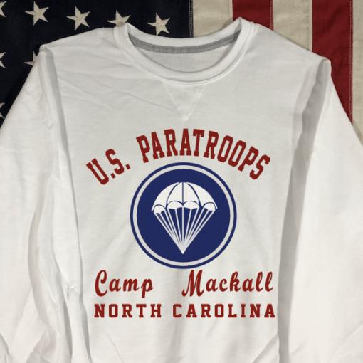 WWII Camp Mackall Sweatshirt V notch WW2