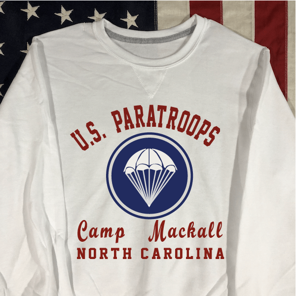 Camp Mackall Sweatshirt with V notch, WWII US Army