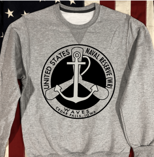 WWII WAVES Sweatshirt in gray USN WW2`