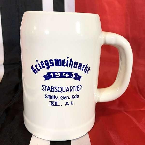 German Christmas Tankard, WWII Kreigsweihnacht Reproduction