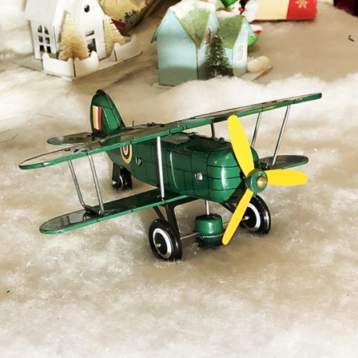 Curtis Biplane Tin toy Green WWI