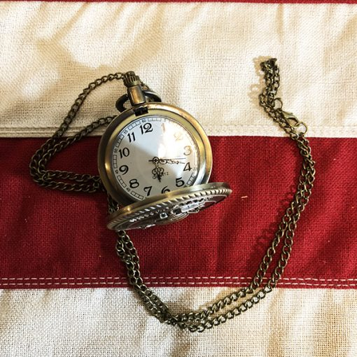 Marine Pocket Watch Flag inside