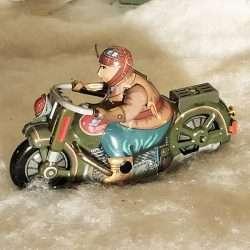 Saturn Motorcycle Tin Toy