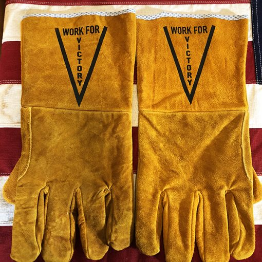 WWII Victory Factory Work Gloves WW2 Rosie the Riveter