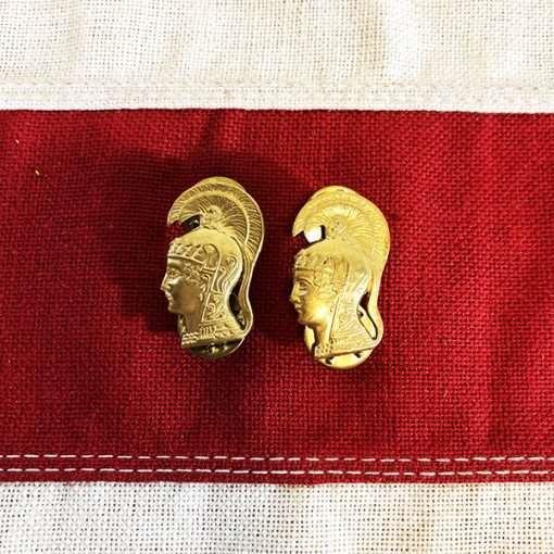WWII WAC Collar Brass Officer Pallas Athena WW2