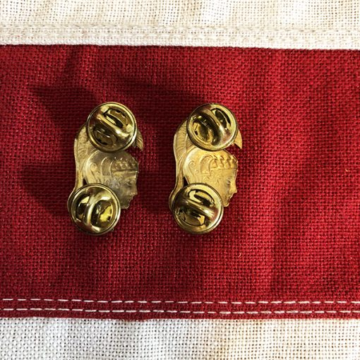 WWII WAC Collar Brass back WW2
