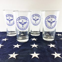 Set of 4 Air Force Glasses