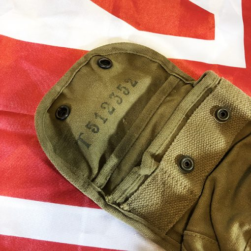 WWII British Signal Corps Bag Open Top View WW2