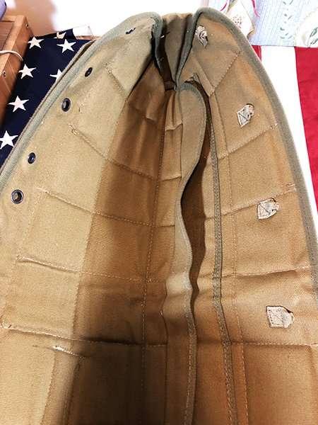 WWII Griswold bag inside