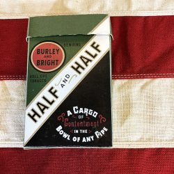 Half and Half Tobacco Box Reproduction WWII WW2