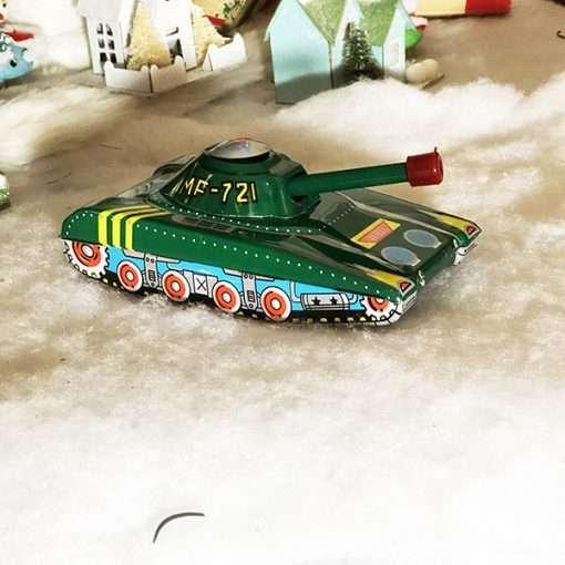 tin toy military tank