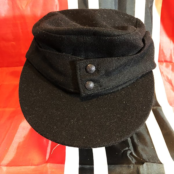 c80351cc Black German SS M43 Field or Mountain Cap, WWII Reproduction - WWII ...