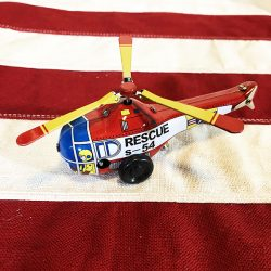 Helicopter tin toy