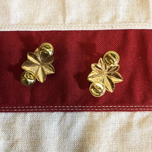 Major Gold Oak Leaf Rank Clutch pin back