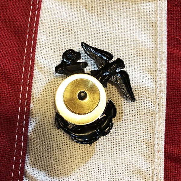 Marine Corps Cap Pin Subdued, Eagle Globe Anchor - WWII Soldier