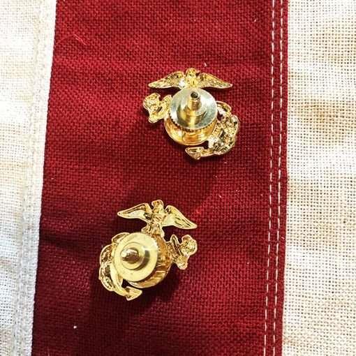 Marine Corps Insignia Screw-Back Pin WW2 WWII