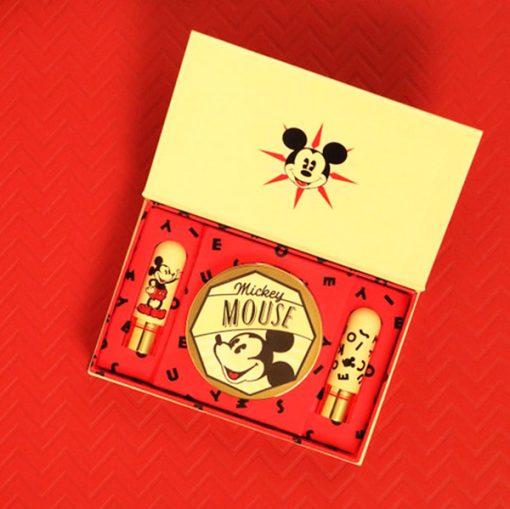 Mickey Mouse Lipsticks and Mirror Set 1930s Ink and Paint Red