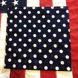 Navy Blue Polka Dot Bandana Scarf WWII WW2