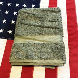 Green Cotton Bath Towel WWII WW2 OD