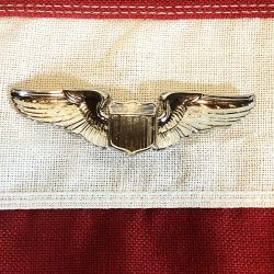 Pilot Wing Pin AAF WWII WW2