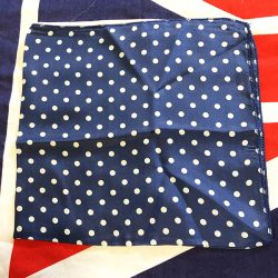 RAF blue polka dot scarf WWII WW2 British Royal Air Force