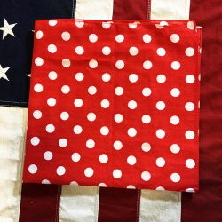 Red Polka Dot Bandana Scarf WWII Rosie the Riveter WW2