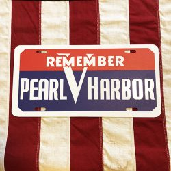 Remember Pearl Harbor License Plate