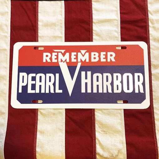 Remember Pearl Harbor License Plate