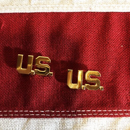 US Collar Brass Insignia WW2 WWII