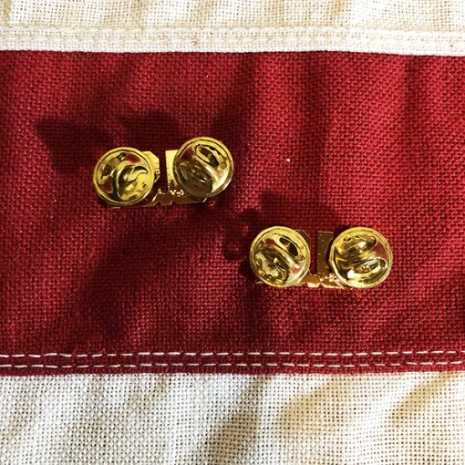 US Collar Brass Insignia Clutch pin back