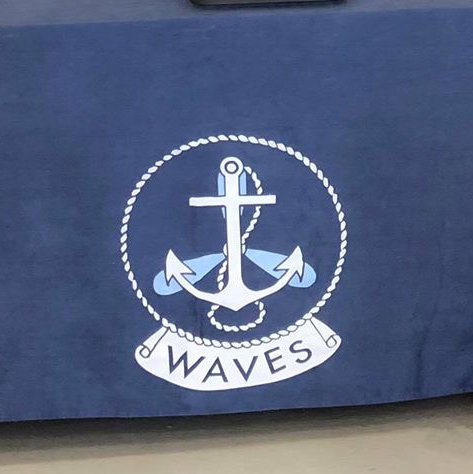 WAVES Navy Blue Tablecloth WWII WW2 USN