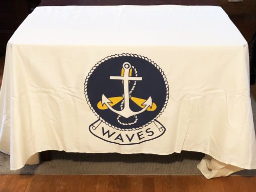 WAVES Tablecloth White WWII WW2`