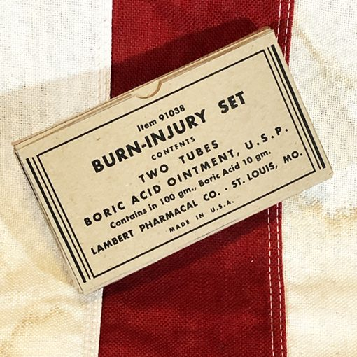 WWII Burn Injury Set Box, WW2 Boric Acid Ointment