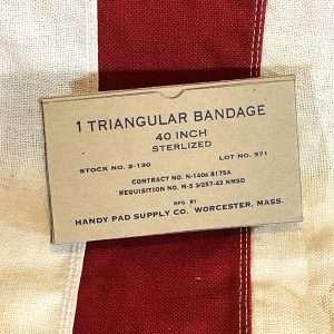 WWII Triangular Bandage Box WW2