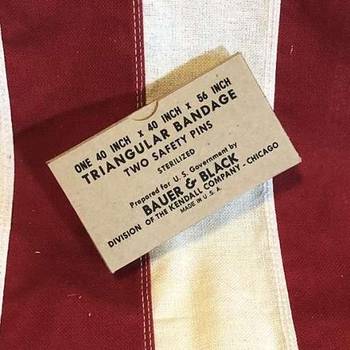 WWIITriangular Bandage Box US Army WW2 Reproduction